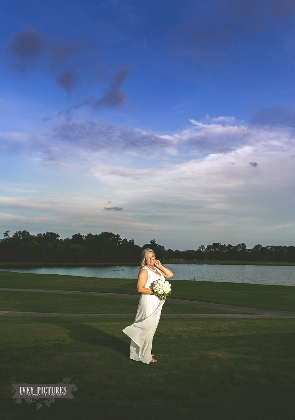 Bride Portrait at Deerwood Country Club Jacksonville fl