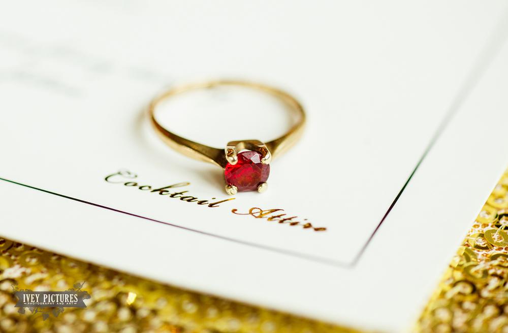 Macro Ruby Ring photo