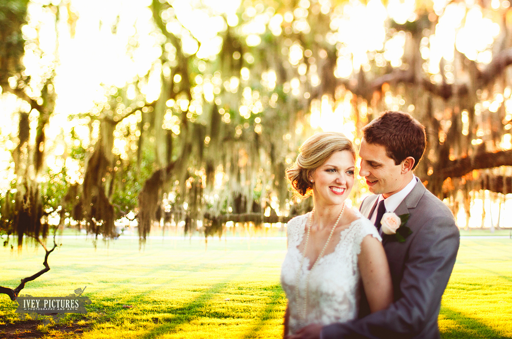 Bride and Groom Portrait at Jekyll Island Club and Hotel