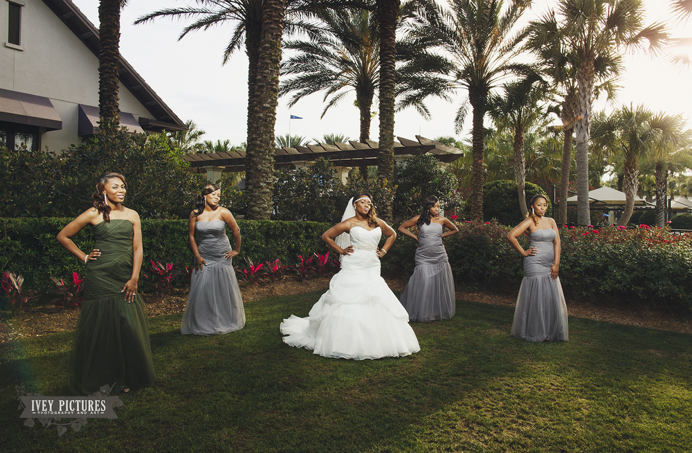 Bride and Bridesmaids Jacksonville wedding photographer