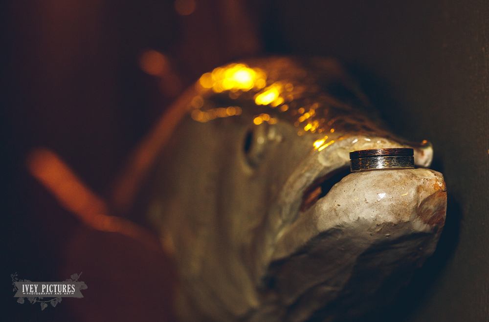 fish with wedding band