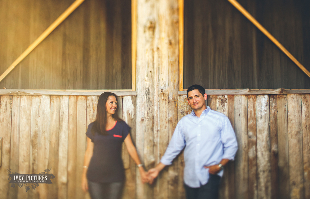 log cabin engagement photos