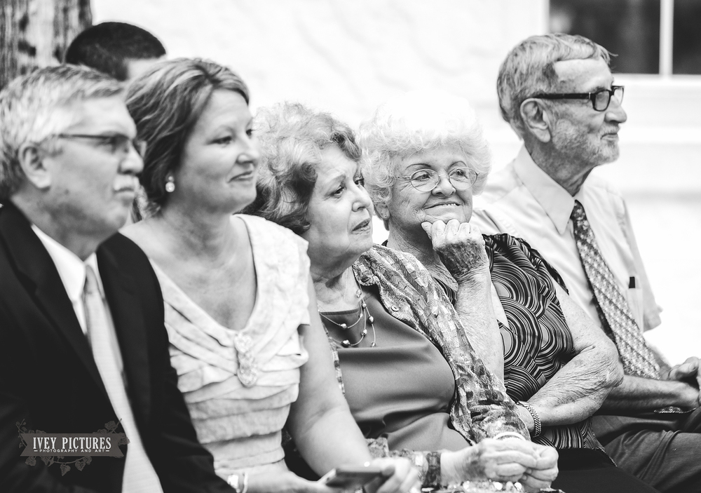 Candid Portrait of grandparents at wedding