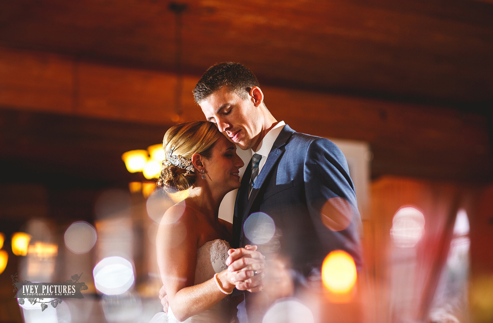 bride and groom's first dance at Casa Marina