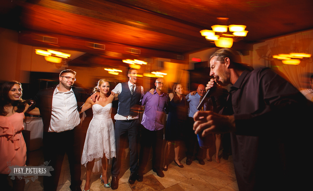 Singing at Wedding Reception