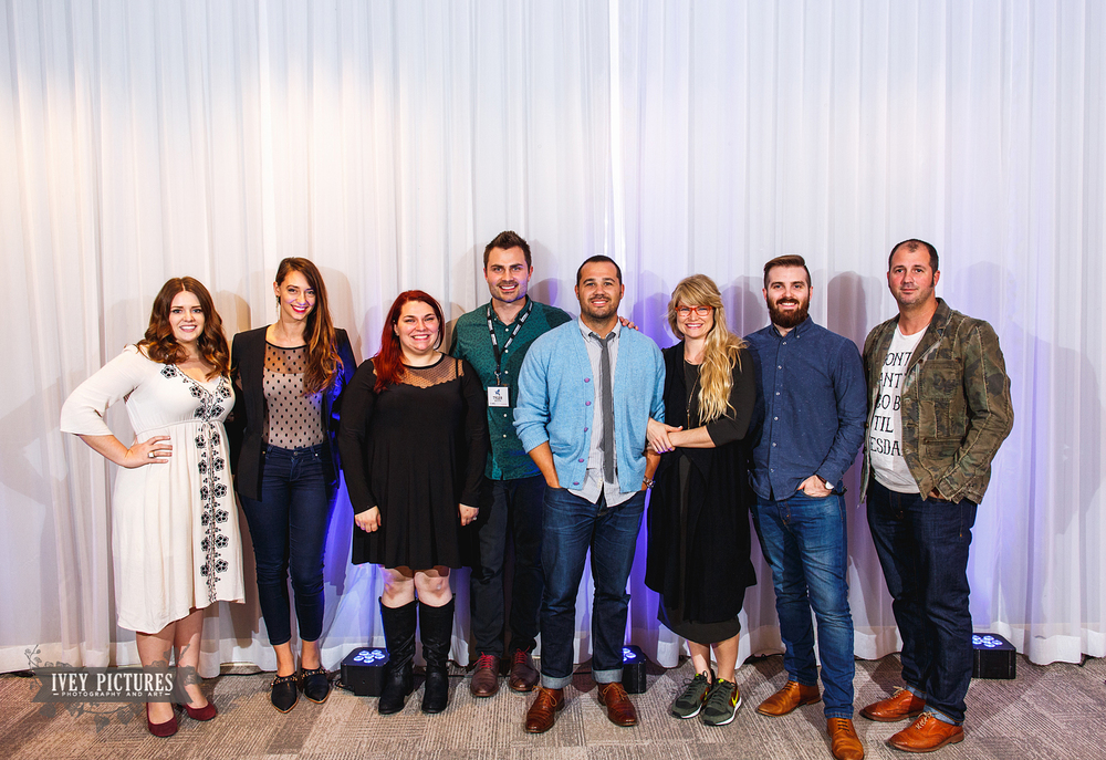 These were the speakers from left to right: Kati Rosado, Sarah Deshaw, Jessi Field, Tyler Boylston, Ben and Rebekah Hood, Robert J. Hill, Jason Mize and not pictured Kristen Weaver and Lauren Grove.