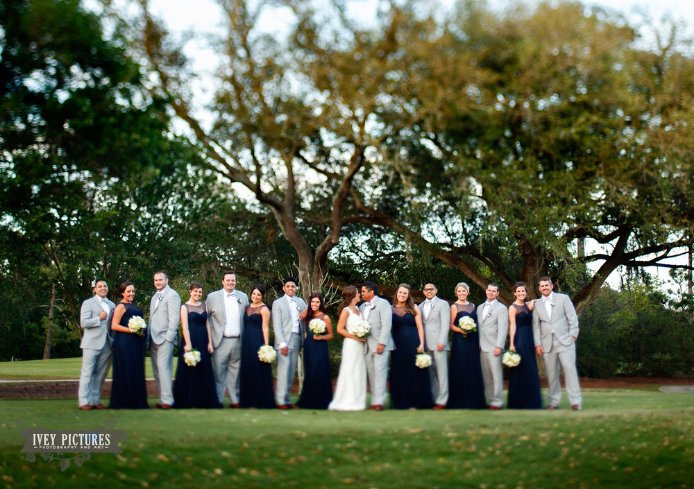 wedding party photo at San Jose Country Club