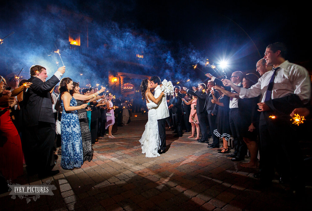 Sparkler exit at TPC Sawgrass wedding