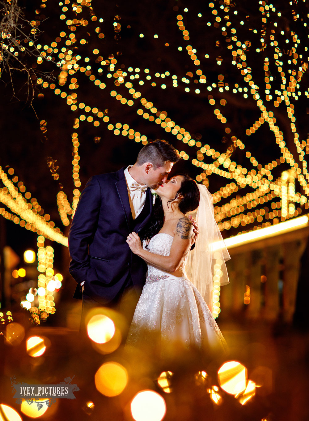 Nights of Lights wedding photos