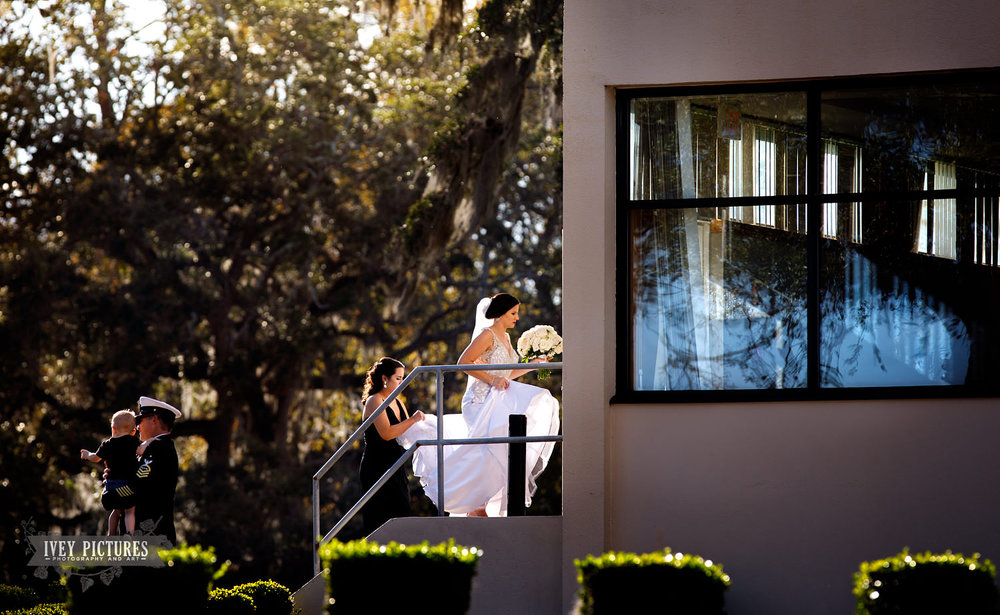 bride at NAS JAX Officer's Club