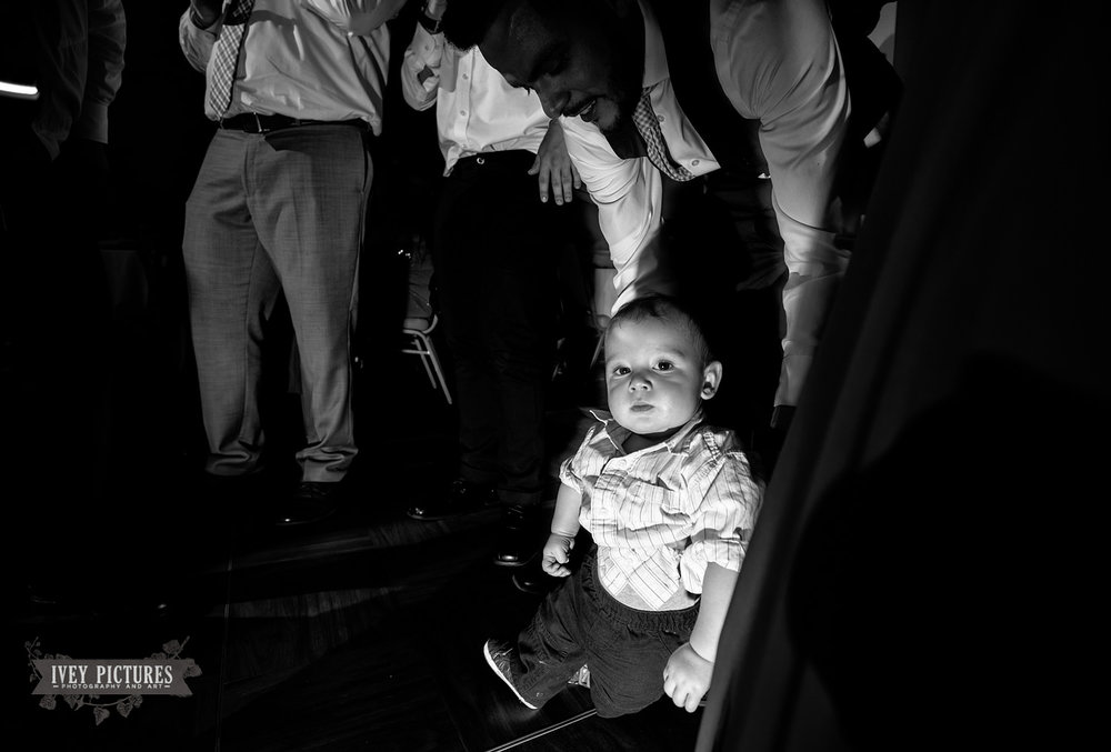 .dancing baby at wedding