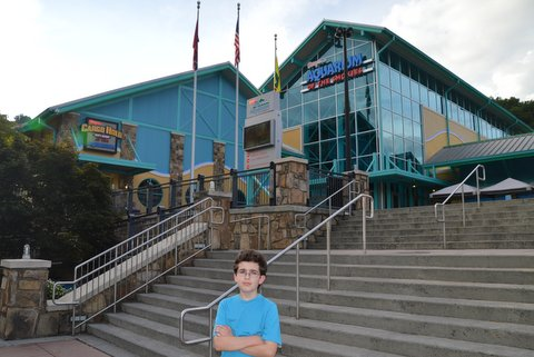 In front of the Aquarium
