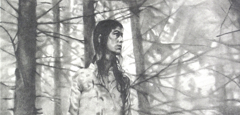 "Antichrist,  Graphite on paper, 4.5"" x 8"", 2014"