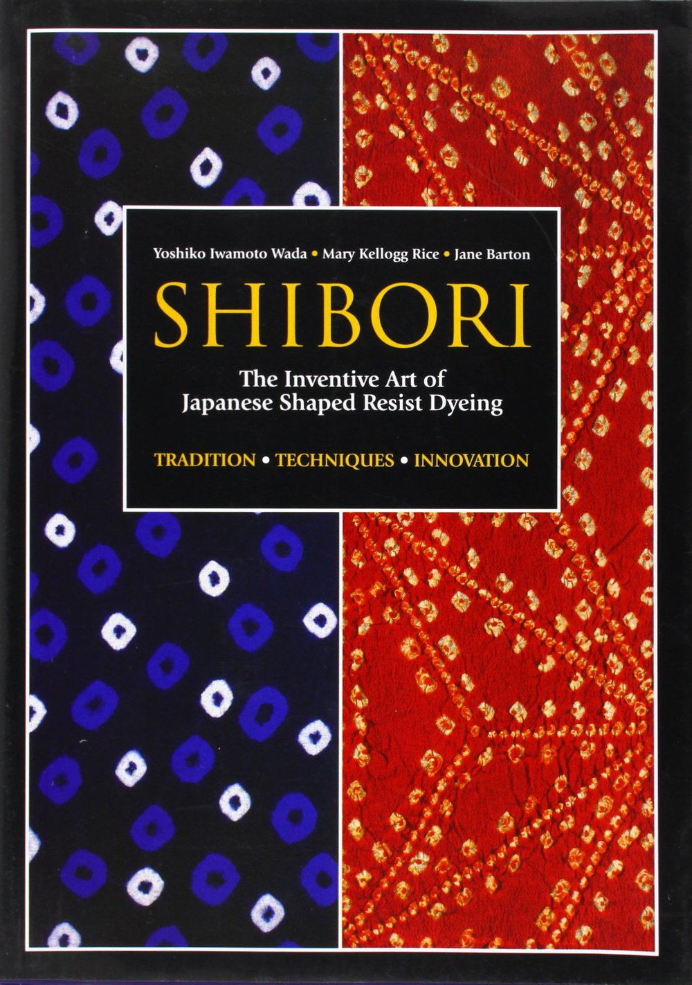 A truly extensive and exhaustive resource on shibori resist techniques. It covers history and how-to, with lots of pictures (mostly in black and white, but still helpful). This is a recent addition to my library, but an important one nonetheless. Great source for dyers (or those who want to start!). This is one of those books you'll permanently keep in your studio. If you are even remotely interested in shibori, you need this book. Includes recipes for indigo vats in the back.
