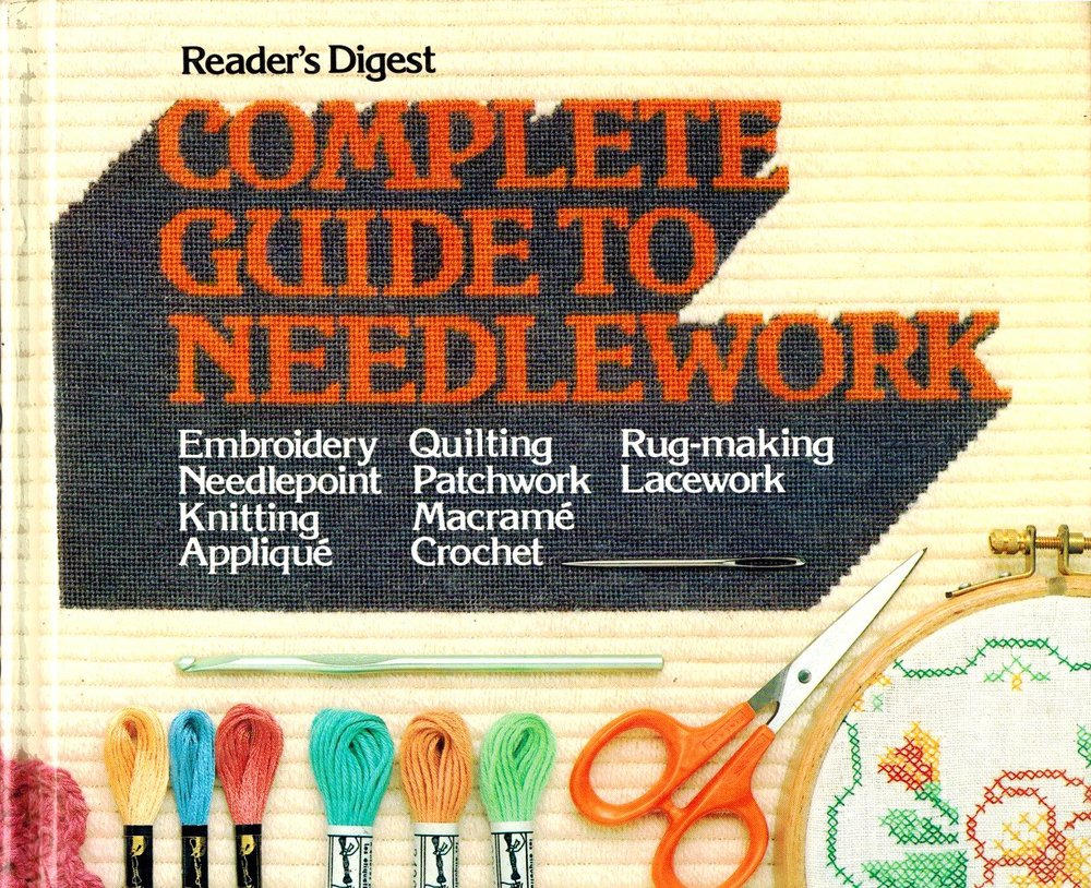 This is the first craft book I owned, although I didn't actually own it, my mother did. I loved this book! I used to spend hours thumbing through it, dreaming of being able to do half of the techniques featured it. Apparently it's out of print now (WHY?!), but it's the sort of thing you could buy dirt cheap on the internet or find at a thrift store. It covers so much! Yes, the projects and photos are dated. That's not the point. I have used this book to teach me so many different techniques over the years: Tunisian crochet, embroidery, needlepoint, patchwork... it literally has SO much. It really replaces the need to have a bunch of different books on each of the subjects (especially if you just want a general reference). If you don't own this yet, get it now!