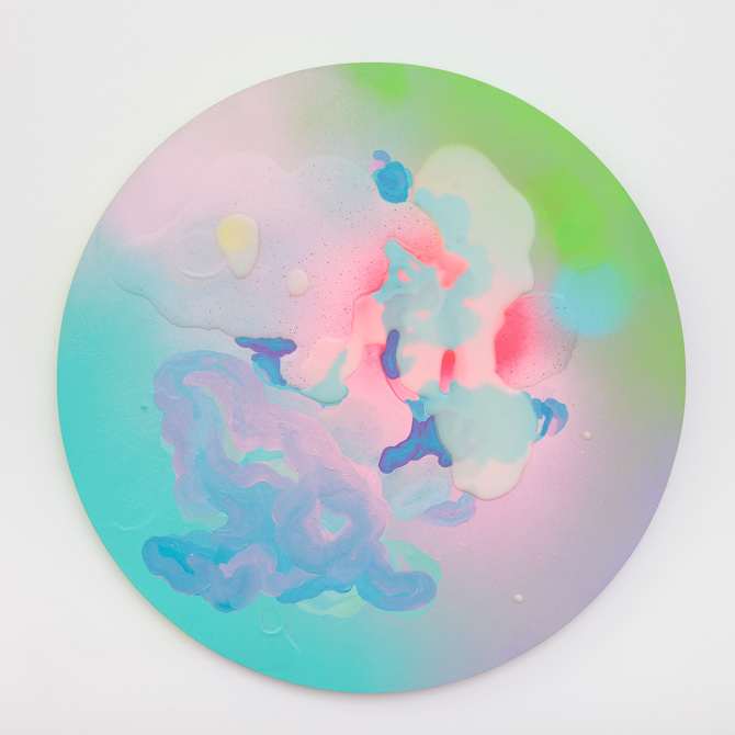 VISIBLE MAGIC (2013) acrylic, oil, enamel and resin on birch wood © Louise Zhang