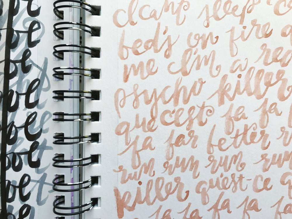 Talking Heads lyrics. In love with this pale peach color!