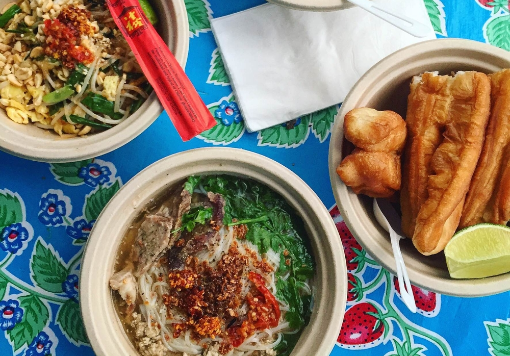 Get a taste of Cambodian street food at the Nyum Bai Noodle Bar! Two types of noodles and savory donuts.