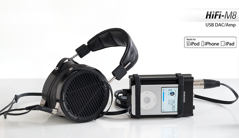 HiFi-M8 w/ Apple iPod Classic & Audeze LCD-X headphones  © 2015 Wes Bender