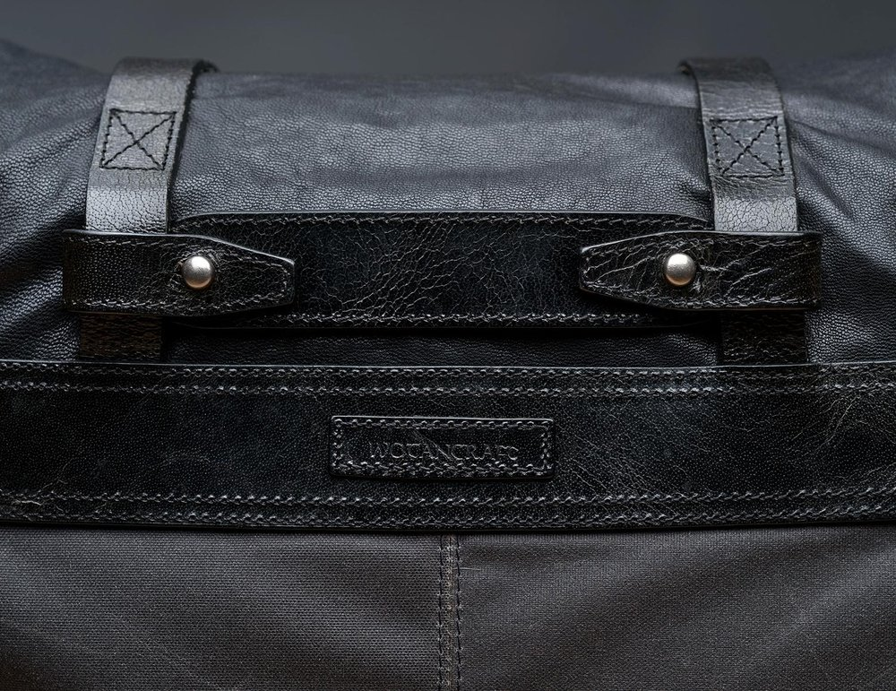 Form and function attention to details abound: Wotancraft's proprietary canvas, heavy-duty metal hardware and vegetable-tanned leather