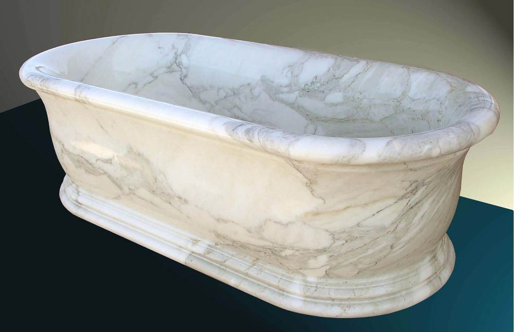 Bathtub in Calacatta D'Oro marble