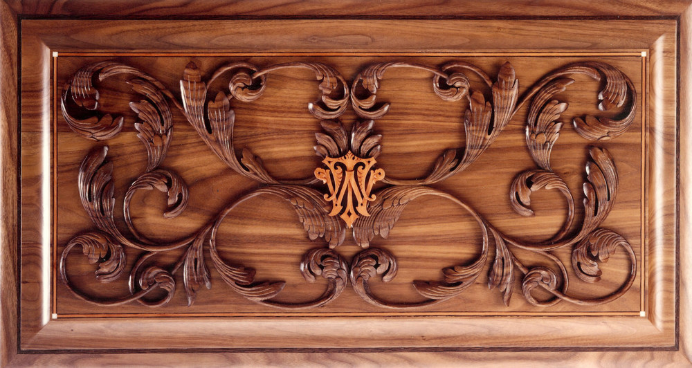 Humidor, Carved Lid, detail