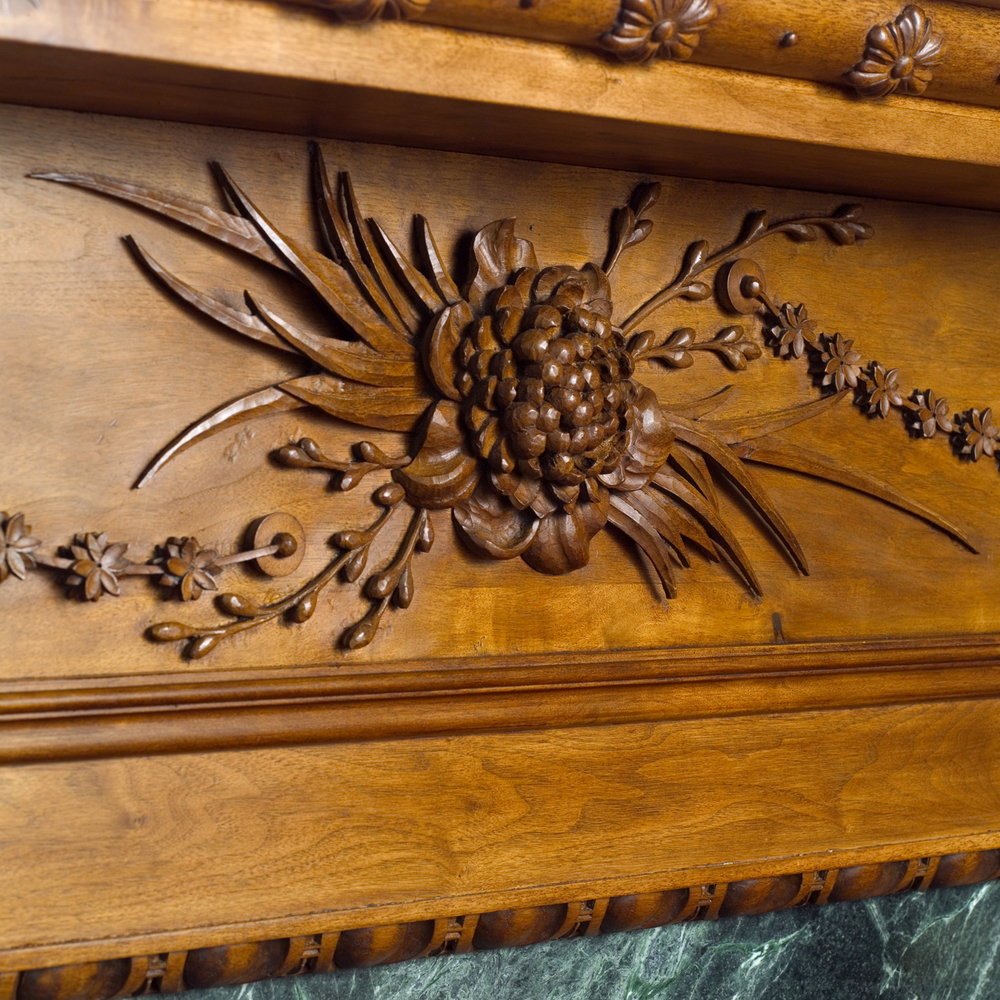 Fireplace Surround- Walnut, detail