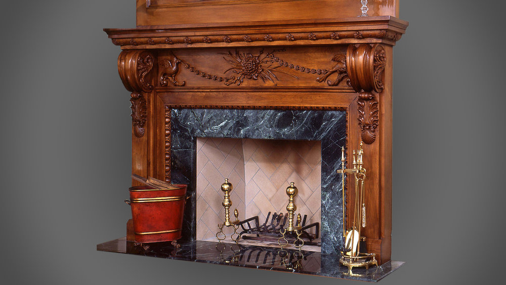 Fireplace Surround - Walnut