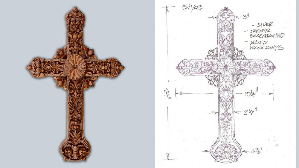 Crucifix in Alder