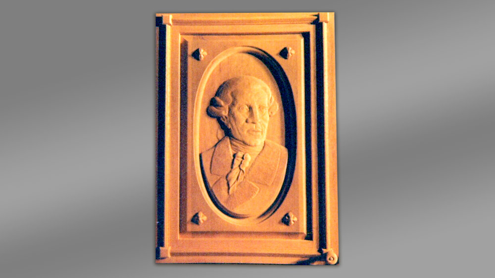 Carved Panel of Haydn