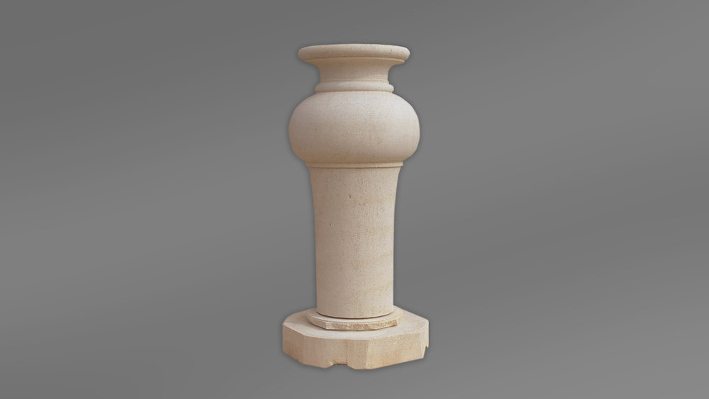 Limestone Pedestal Turned