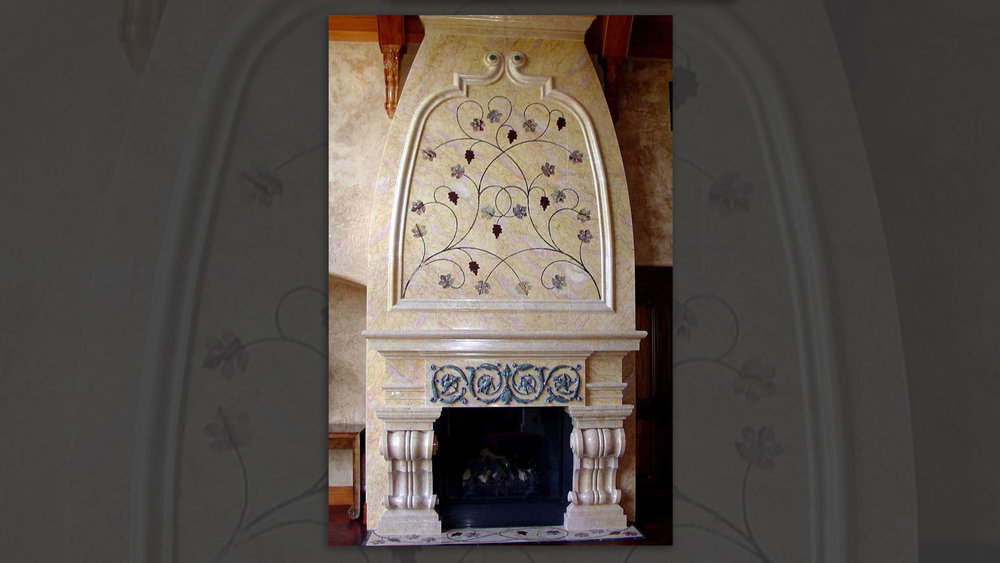 Fireplace Surround with Pietra Dura