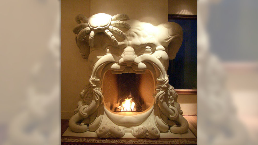Poseidon Fireplace Surround