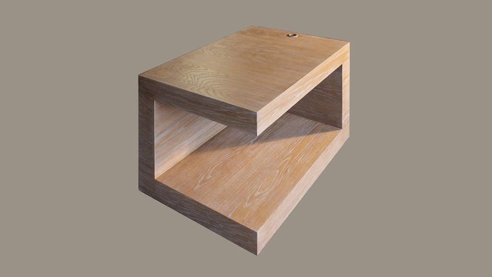 Side Table on White Oak