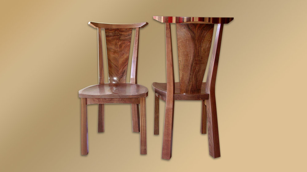 Chairs in Walnut