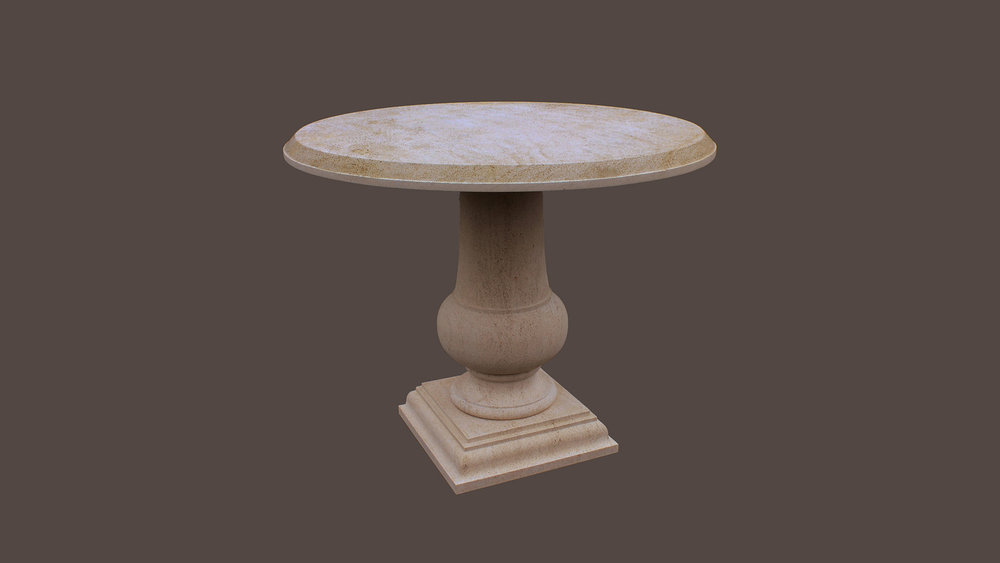 Tables in Beaumaniere Limestone