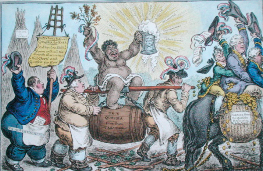 1806 London porter brewers celebrate quassia.png