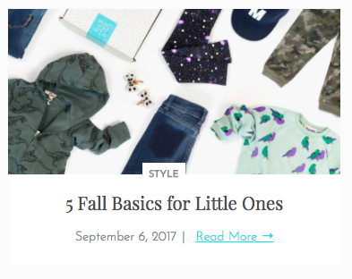 5 Fall Basics for Little Ones