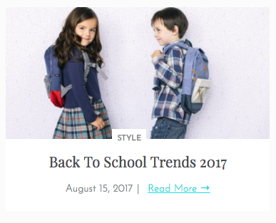 Back to School Trends 2017