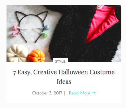 Easy, Creative Halloween Costume Ideas