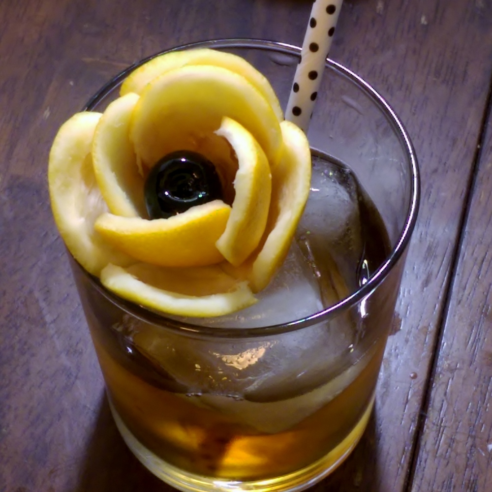 Lemon Rose with cocktail