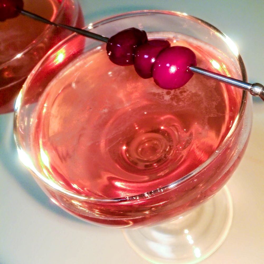 CHARLES STREET 31   2 OZ. OLD TOM GIN  1/2 OZ. MARASCHINO LIQUEUR  1/2 OZ. CRANBERRY SYRUP  2 DASHES BITTERS