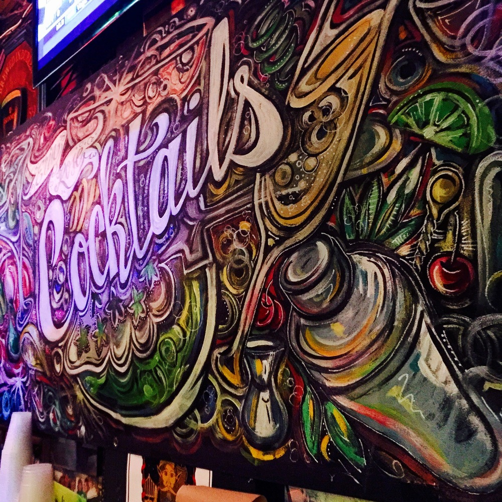 Mural at Erin Rose bar.