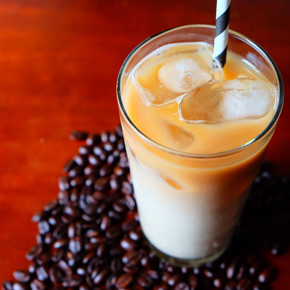 Coffee milk recipe made with milk, coffee, and coffee infused syrup.