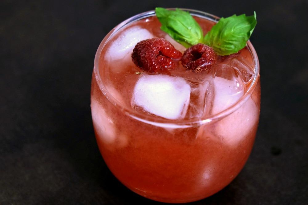 Raspberry-Basil Spritzer