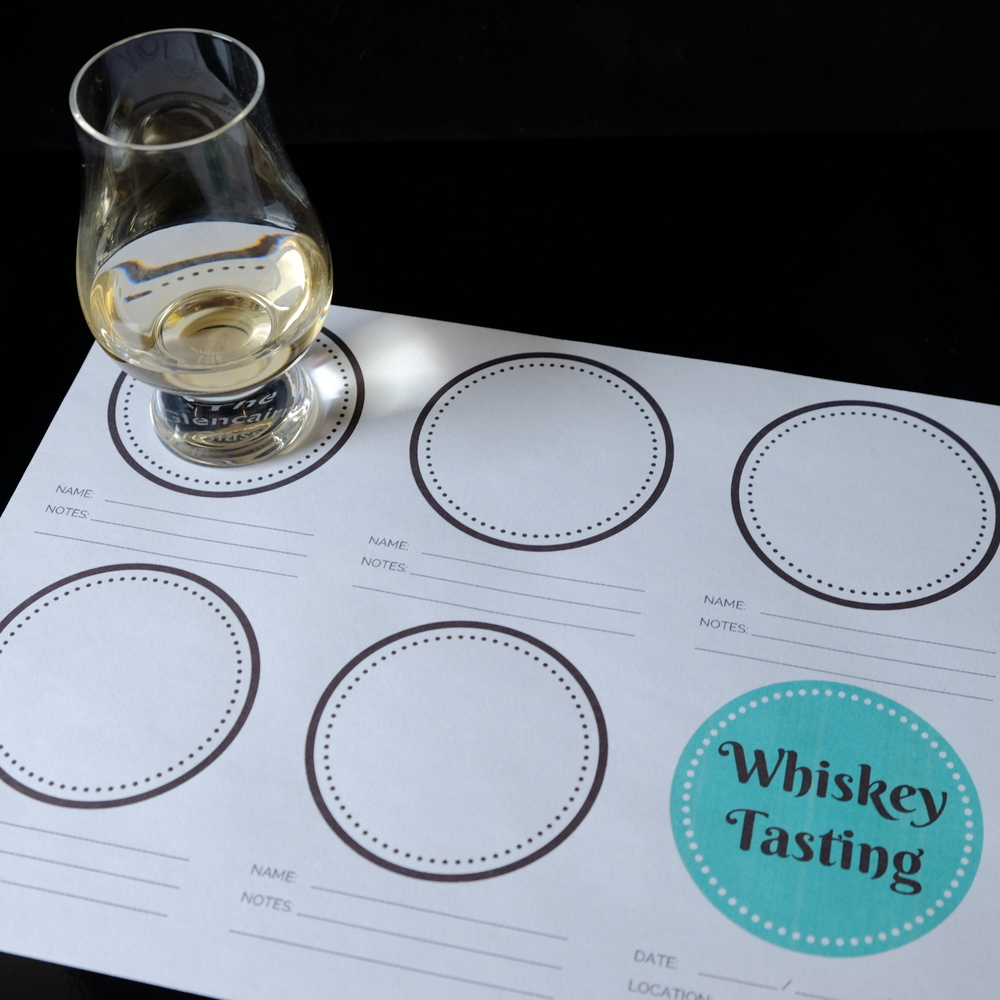 whiskey tasting sheet