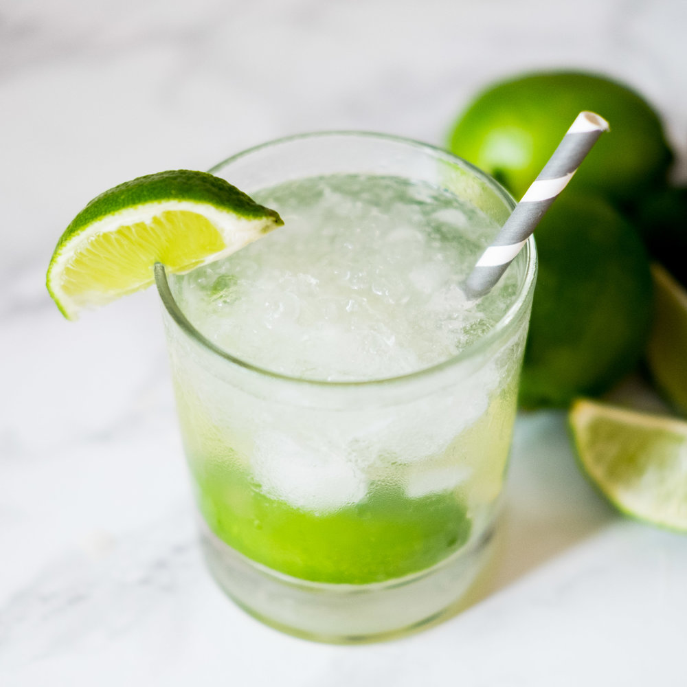 CAIPIROSKA - A delicious combo of muddled lime, simple syrup, and vodka.