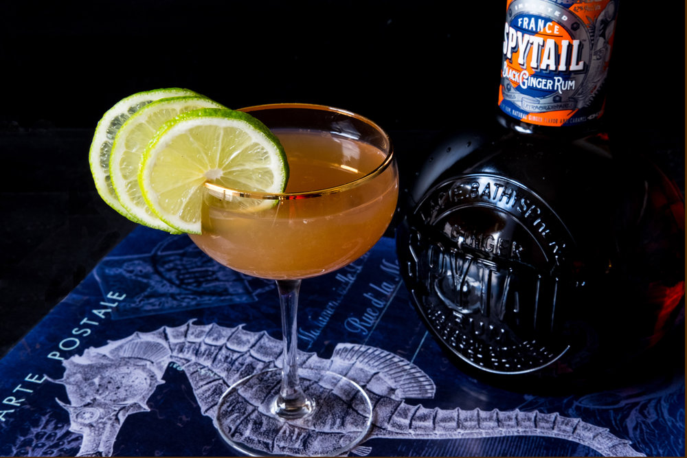 SPYTAIL RUM - This spring I had the pleasure of working with a rum like no other. Based on a 19th-century recipe, Spytail Rumis made with fresh ginger root and spices in Cognac, France.