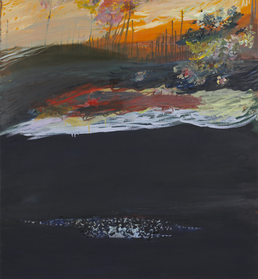 Star Swell , 2008  Oil on linen  50 x 46 inches