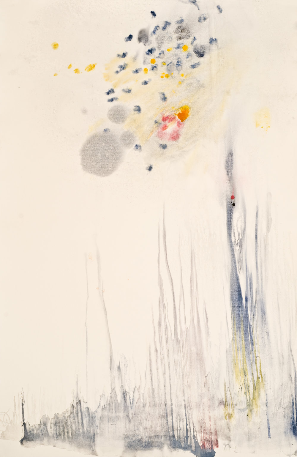 Untitled 4 , 2012  oil on paper monoprint  60 x 40 inches  Wildwood Press
